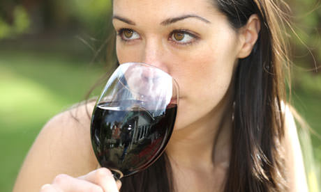 Woman-drinking-wine-0013